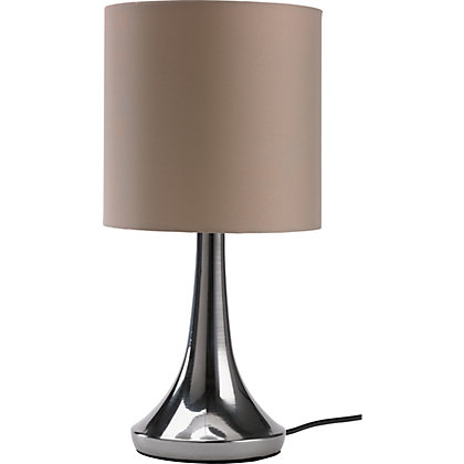 Image for Chrome Touch Table Lamp - Mocha from StoreName