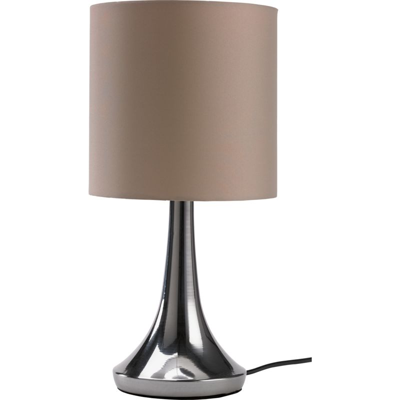 chrome touch table lamp mocha. Black Bedroom Furniture Sets. Home Design Ideas