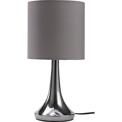 Image for Chrome Touch Table Lamp - Charcoal from StoreName