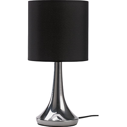 Image for Chrome Touch Table Lamp - Black from StoreName