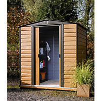Rowlinson Woodvale Metal Shed - 6ft x 5ft