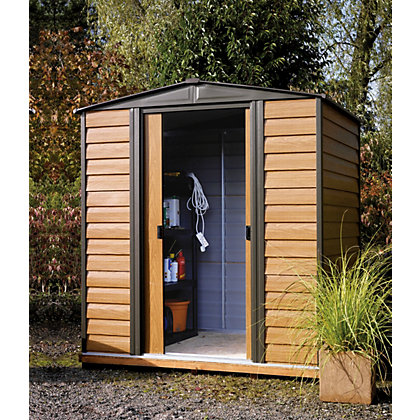 Image for Rowlinson Woodvale Metal Shed - 10ft x 12ft from StoreName
