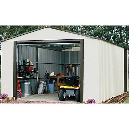 Image for Rowlinson Murryhill Metal Garage - 12ft x 17ft from StoreName