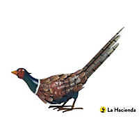 Crouched Pheasant Garden Ornament - Steel
