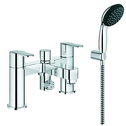 Image for GROHE Get Deckmounted Bath/Shower mixer c/w kit - Chrome from StoreName