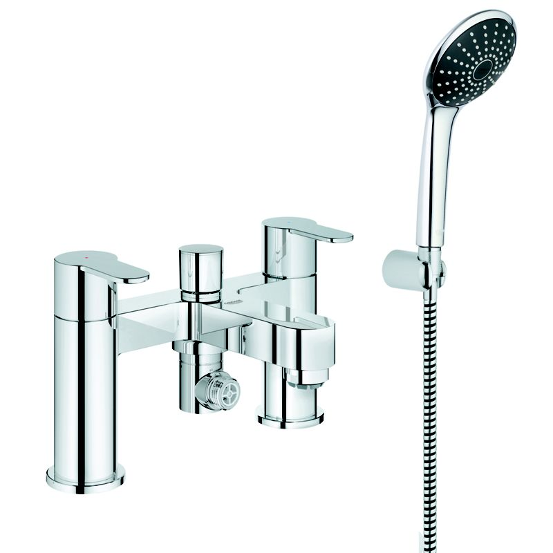 Homebase Grohe Wave Cosmo Deckmounted Bath Shower Mixer C W Kit Ch