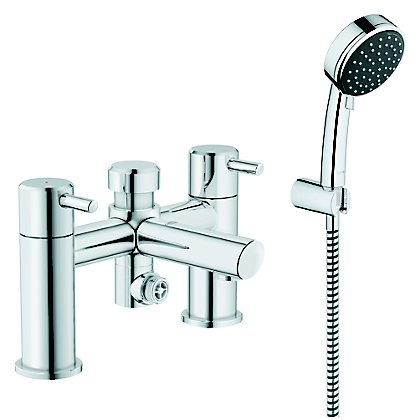 Image for GROHE Feel Deckmounted Bath/Shower mixer c/w kit - Chrome from StoreName