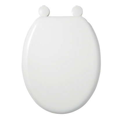 Image for Moulded Wood White Toilet Seat from StoreName