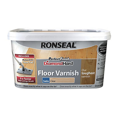 Image for Ronseal Perfect Finish Diamond Hard Floor Varnish Satin from StoreName