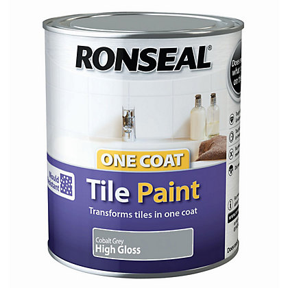 Image for Ronseal One Coat Cupboard Melamine & MDF Paint Cobalt Grey High Gloss 750ml from StoreName