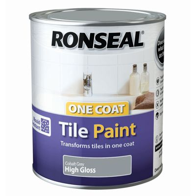 Ronseal One Coat Cupboard Melamine & MDF Paint Cobalt Grey High Gloss 750ml