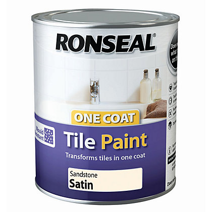 Image for Ronseal One Coat Cupboard Melamine & MDF Paint Sandstone Satin 750ml from StoreName