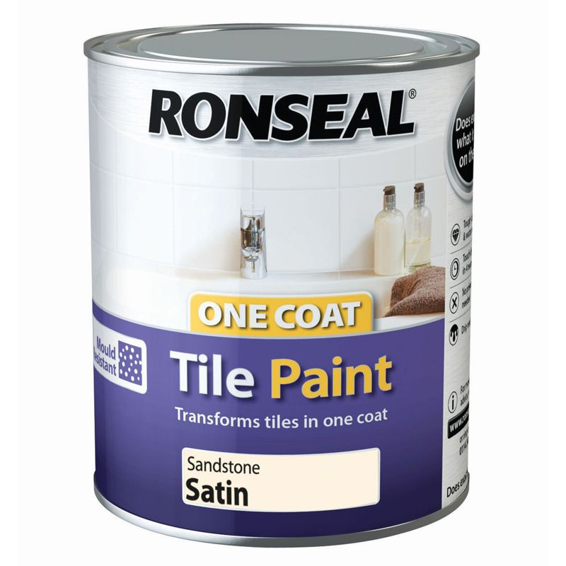 Ronseal One Coat Cupboard Melamine Mdf Paint Sandstone Satin 750ml