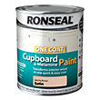Ronseal One Coat Cupboard Melamine & MDF Paint Mocha Brown Satin 750ml