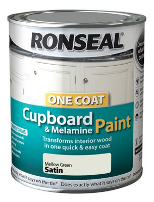 Ronseal One Coat Cupboard Melamine and MDF Paint Mellow