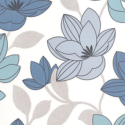 Image for Superfresco Easy Paste the Wall Superflora - Blue from StoreName