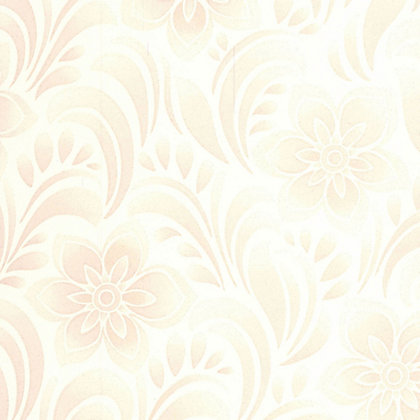 Image for Jacquard Floral Wallpaper - White from StoreName