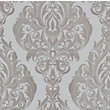 Kinky Vintage Wallpaper - Silver Cream