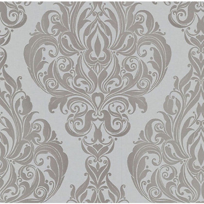 Image for Kinky Vintage Wallpaper - Silver Cream from StoreName