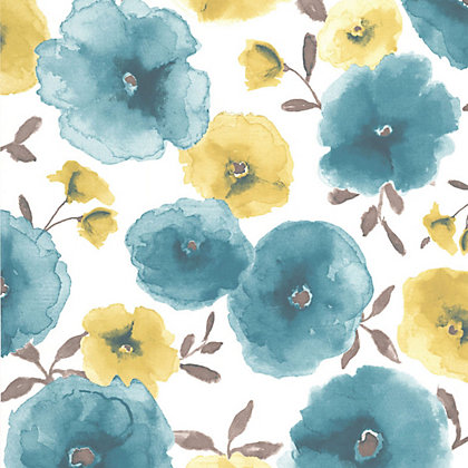 Image for Superfresco Easy Paste the Wall Poppies Wallpaper - Teal from StoreName