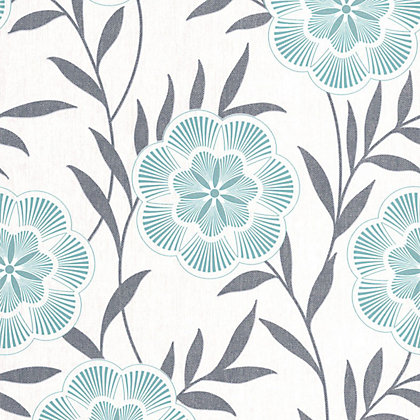Image for Superfresco Easy Paste the Wall Flora Wallpaper - Teal from StoreName