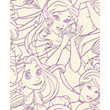 Disney Princess Pink Flock Wallpaper - Pink