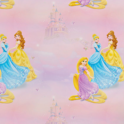 Image for Disney Pretty as a Princess Wallpaper - Pink from StoreName
