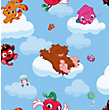 Mind Candy Moshi Monsters Cloud Ride Wallpaper - Multi