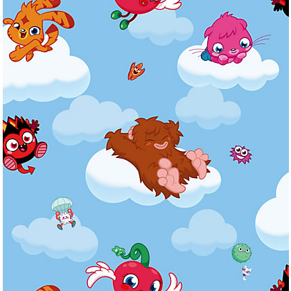 Image for Mind Candy Moshi Monsters Cloud Ride Wallpaper - Multi from StoreName