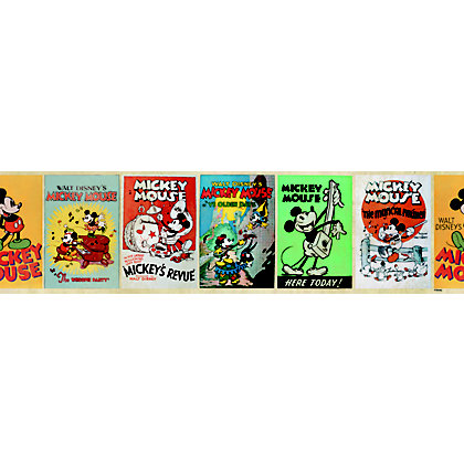 Image for Disney Mickey Vintage Wallpaper Border - Multi from StoreName
