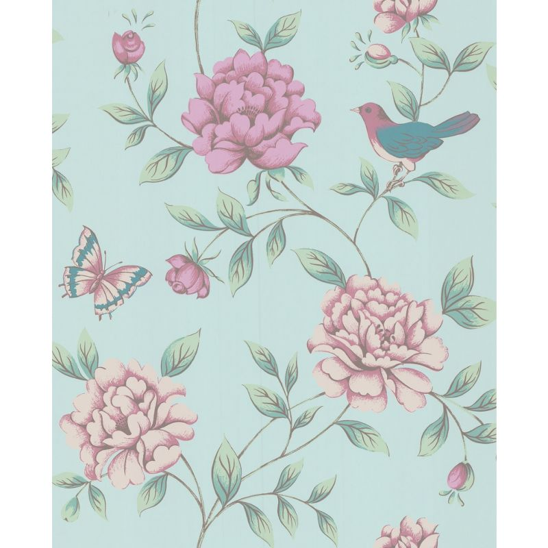 Graham Brown Plum Monsoon Meadow Wallpaper
