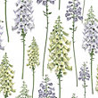 Graham & Brown Foxglove Wallpaper - Lilac & Lemon