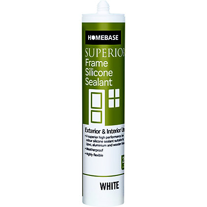 Image for Homebase Superior Frame Silicone Sealant - White from StoreName