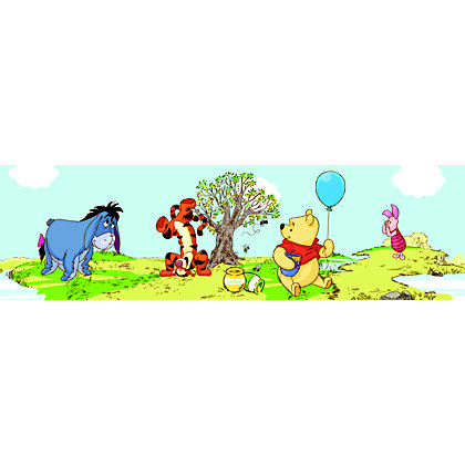 Image for Pooh Bother Free Days Wallpaper Border from StoreName