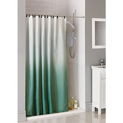Image for Ombre Fabric Shower Curtain from StoreName
