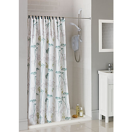 Image for Hedgerow Trail Fabric Shower Curtain from StoreName