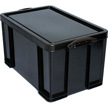 Image for Really Useful 84L Storage Box - Black from StoreName