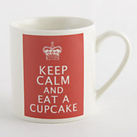 Keep Calm... Fine China Mug - Red