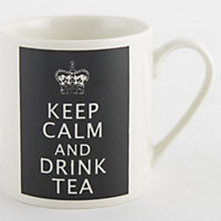 Keep Calm... Fine China Mug - Black