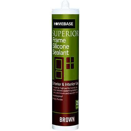 Image for Homebase Superior Frame Silicone Sealant - Brown from StoreName