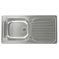 Carron Phoenix Precision Plus 90 Compact Kitchen Sink - 1 Bowl