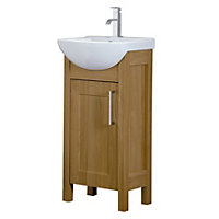 Winslow 450mm Vanity Unit - Oak