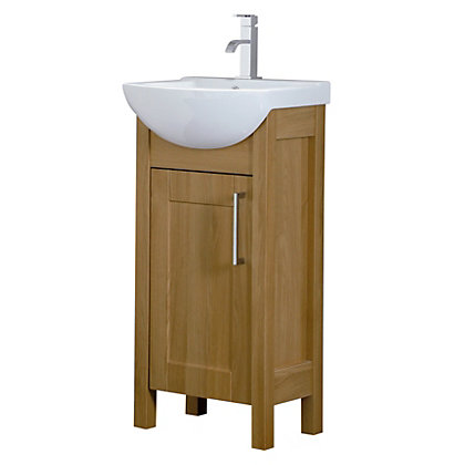 Image for Winslow 450mm Vanity Unit - Oak from StoreName