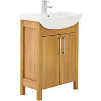 Winslow 650mm Vanity Unit - Oak