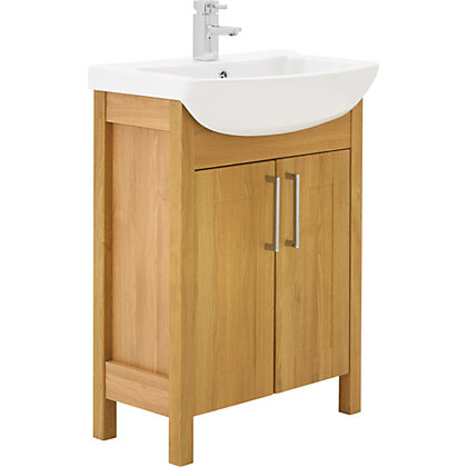 Image for Winslow 650mm Vanity Unit - Oak from StoreName