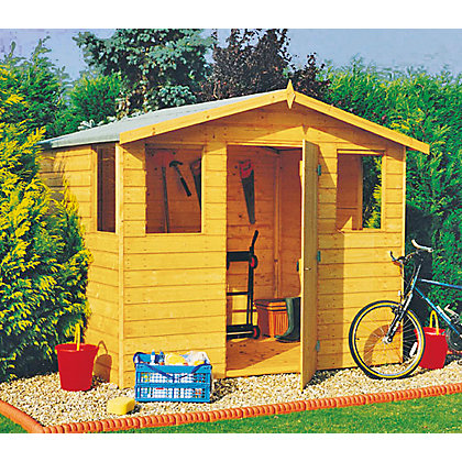 Image for Homewood Orkney Apex Shed - 8ft x 6ft from StoreName