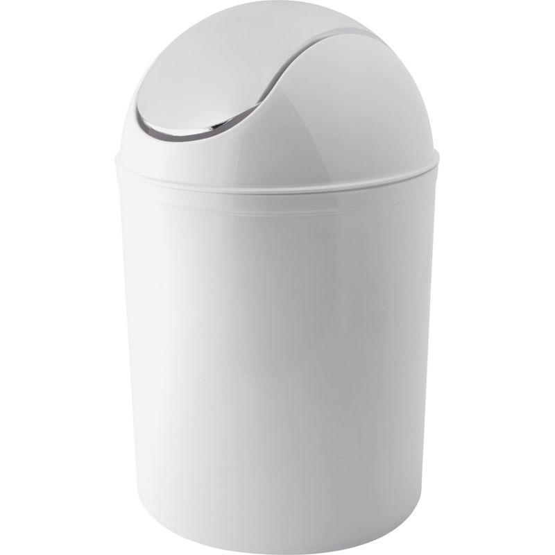 Plastic swing bin for Bathroom containers with lids