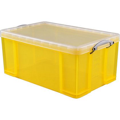Image for Really Useful 64L Storage Box - Yellow from StoreName