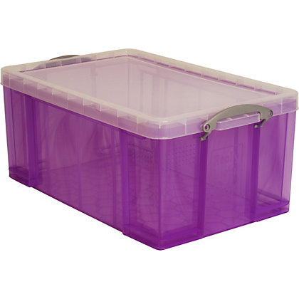 Image for Really Useful 64L Storage Box - Purple from StoreName