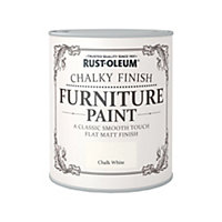 Rust-Oleum Chalk White - Chalky Furniture Paint - 750ml